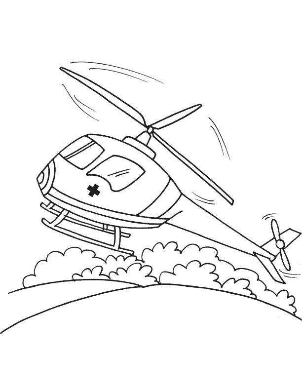 air ambulance coloring page - Ambulance Coloring Pages Kids