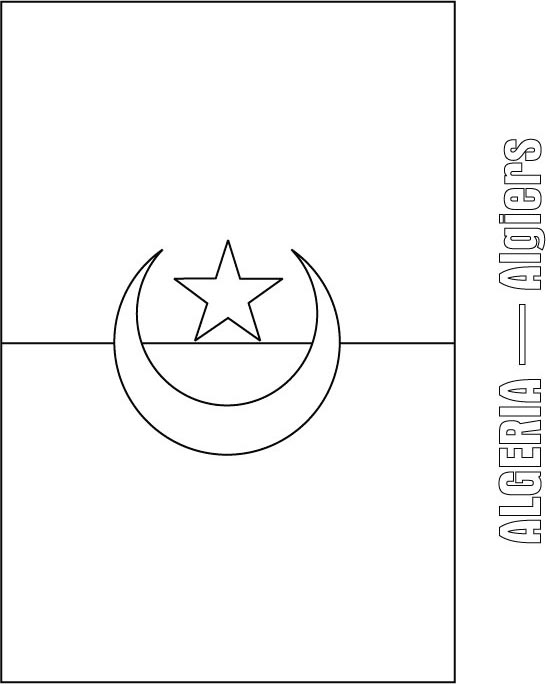 algeria flag coloring page  download free algeria flag coloring, coloring pages