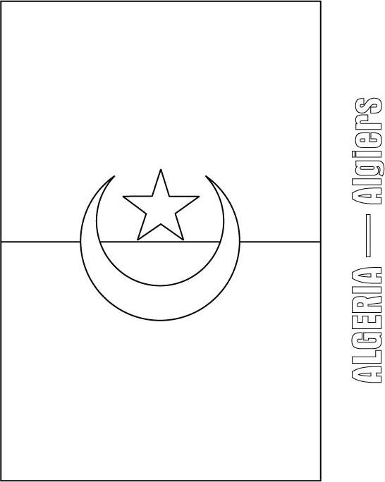Algeria Flag Coloring Page