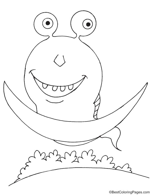 Alien riding on UFO coloring page | Download Free Alien riding on ...
