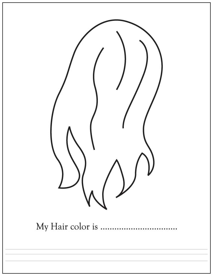 Hair color download free hair color for kids best Coloring book hair