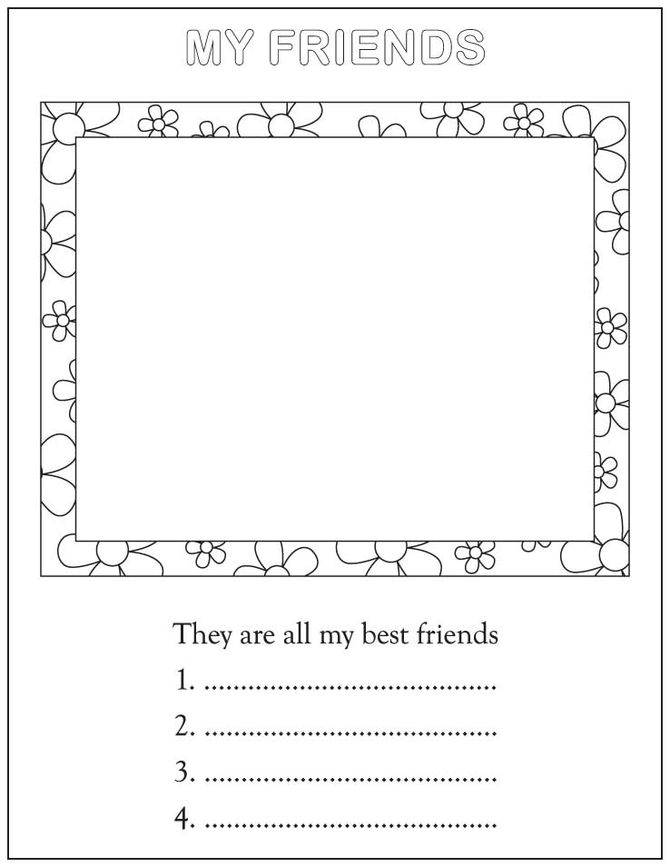 my friends coloring pages - photo#6