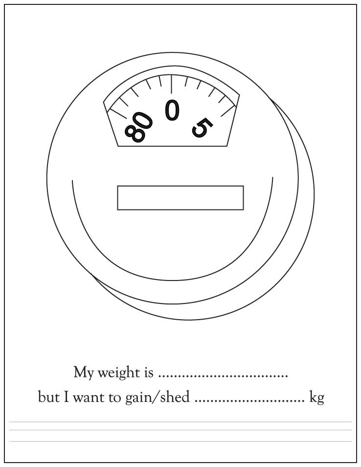 Weight Scale Coloring Pages Printable