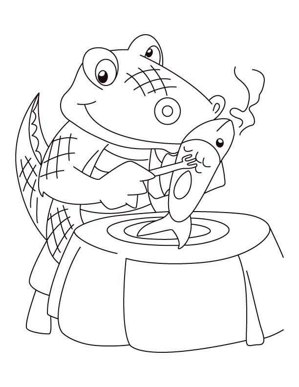 Alligator meal, angel real coloring pages | Download Free Alligator ...