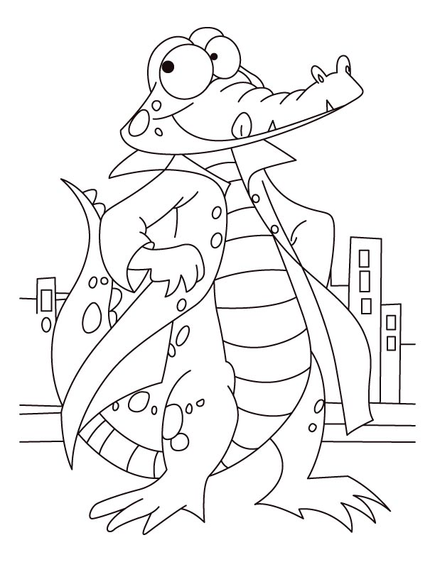 Bold and courageous alligator coloring pages | Download Free Bold ...