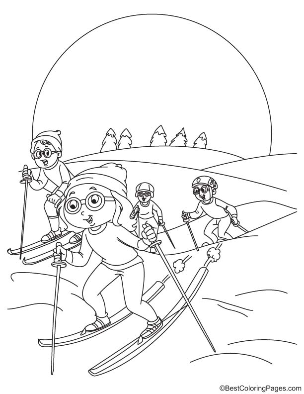 downhill skiing coloring pages - photo#14