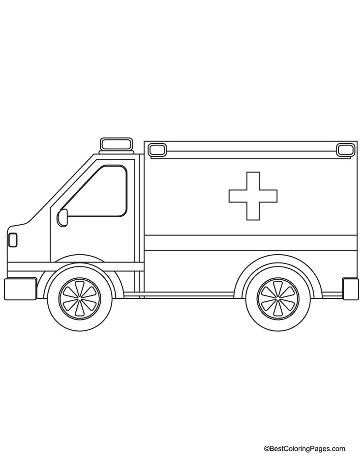 emergency vehicles coloring pages - photo #42