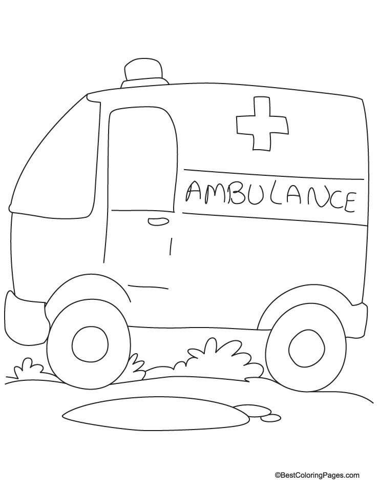 ambulane van coloring page - Ambulance Coloring Pages Print