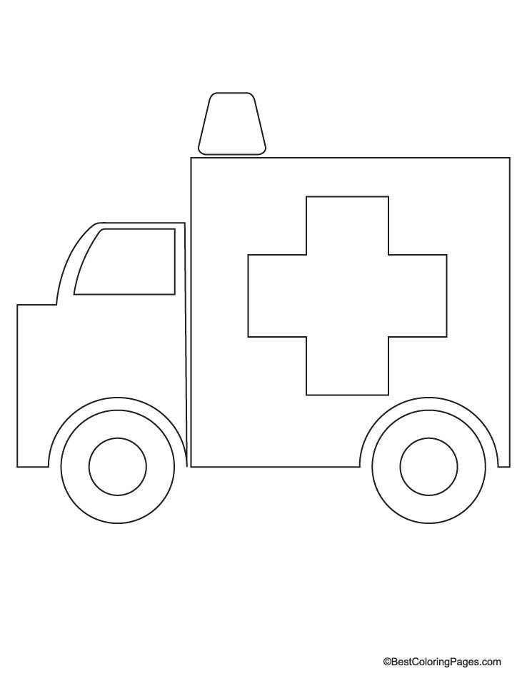ambulance coloring page - Ambulance Coloring Pages Print