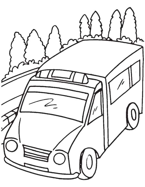 Ambulance van coloring page | Download Free Ambulance van ...