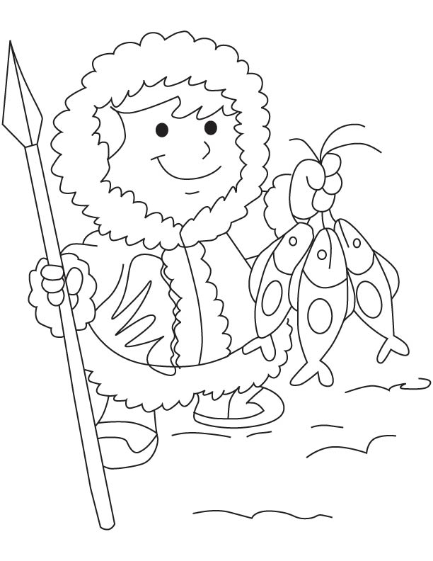 Eskimo coloring sheet coloring pages for Eskimo coloring page