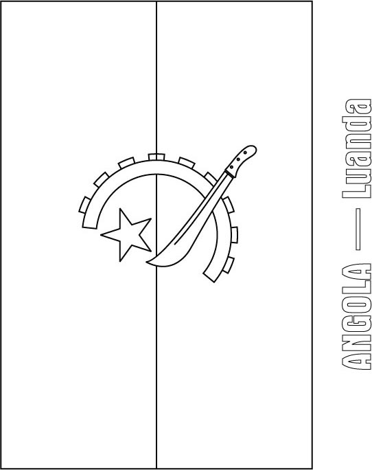 Angola Flag Coloring Page Download Free Angola Flag Coloring Zambia Flag Coloring Page