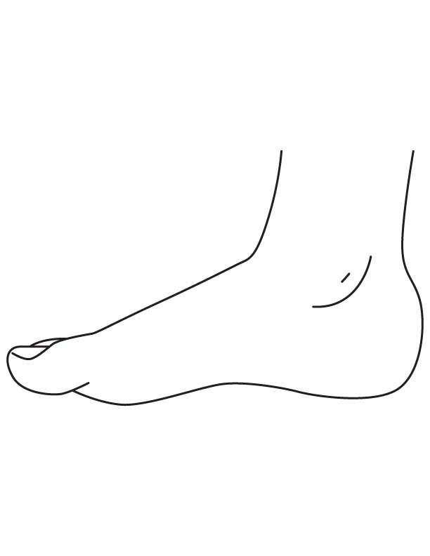 Ankle body parts coloring page