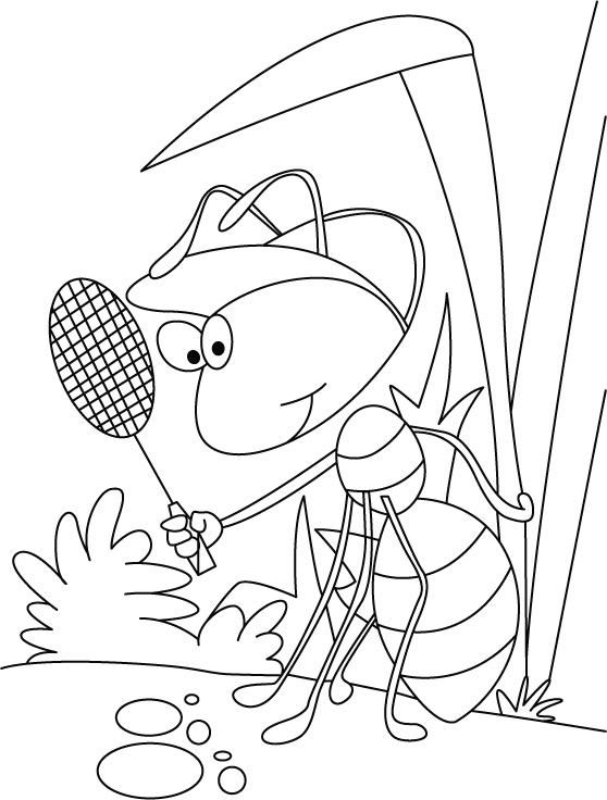 Champ daunts ant coloring pages