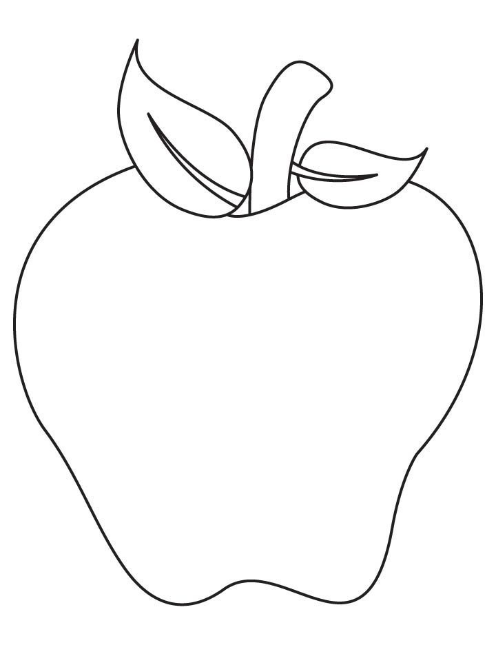 Apple Art Coloring Page