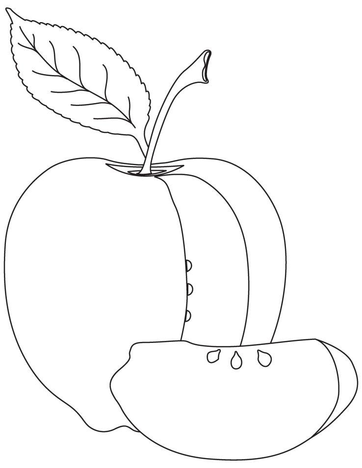 Apple coloring sheet | Download Free Apple coloring sheet for kids ...