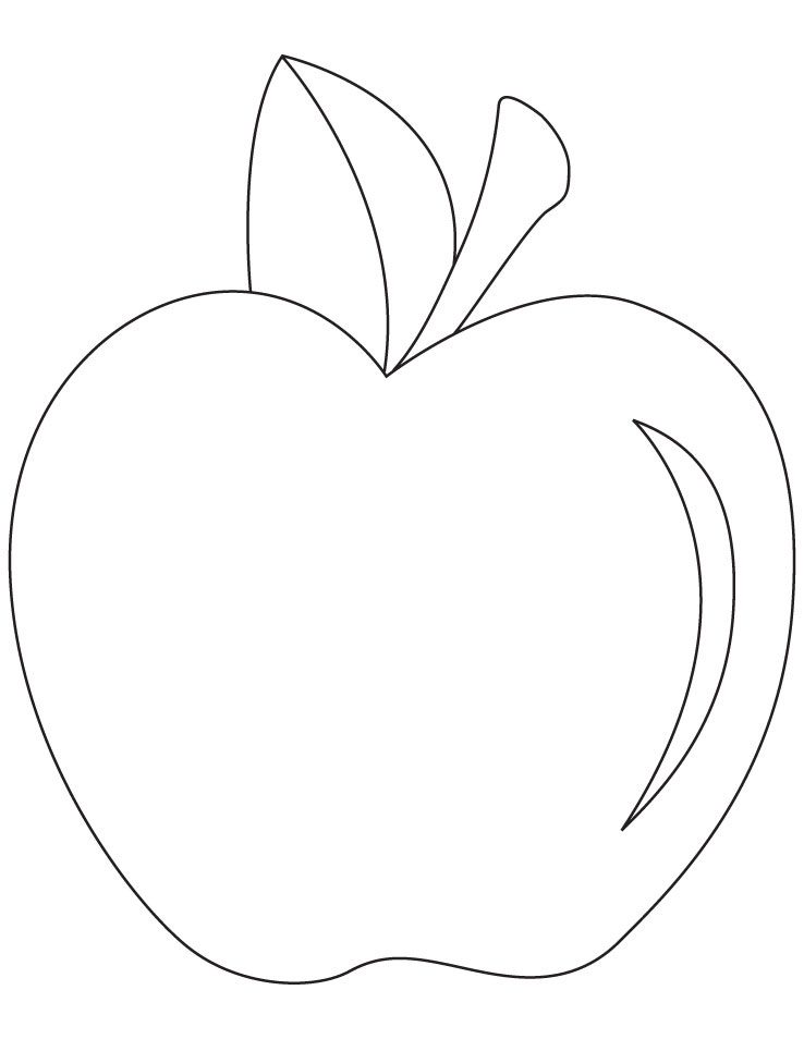 Apple coloring picture Download