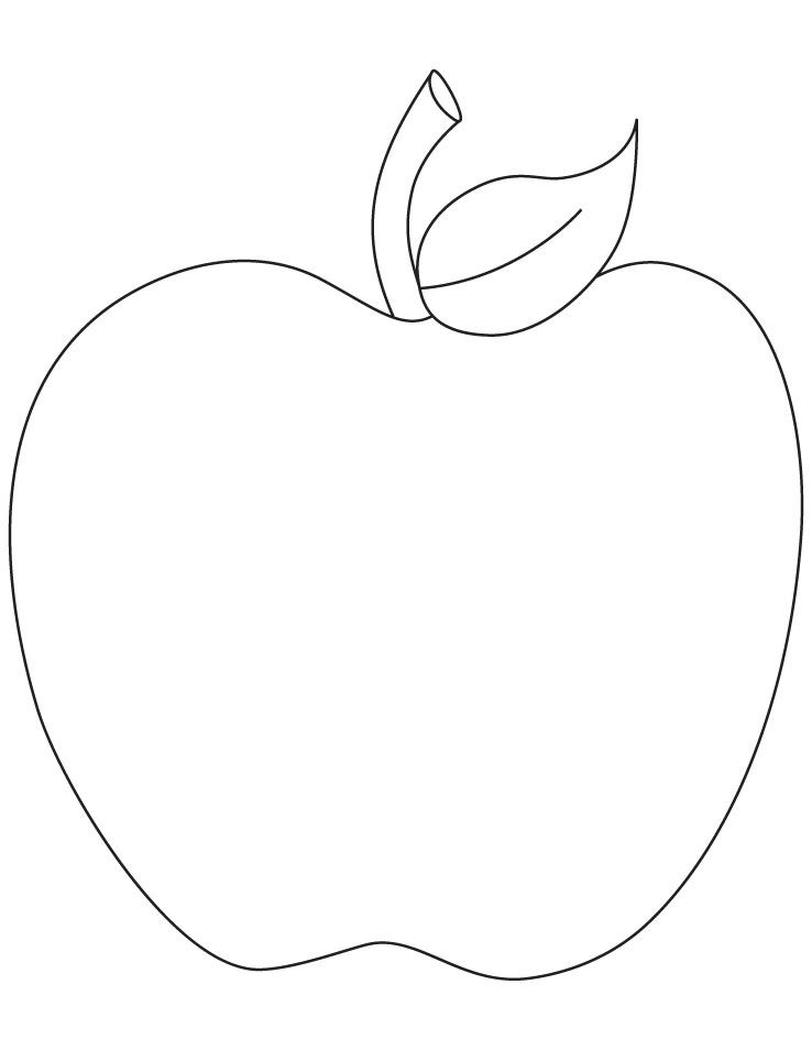 Free Coloring Pages Of An Apple : Apple coloring page to print download free