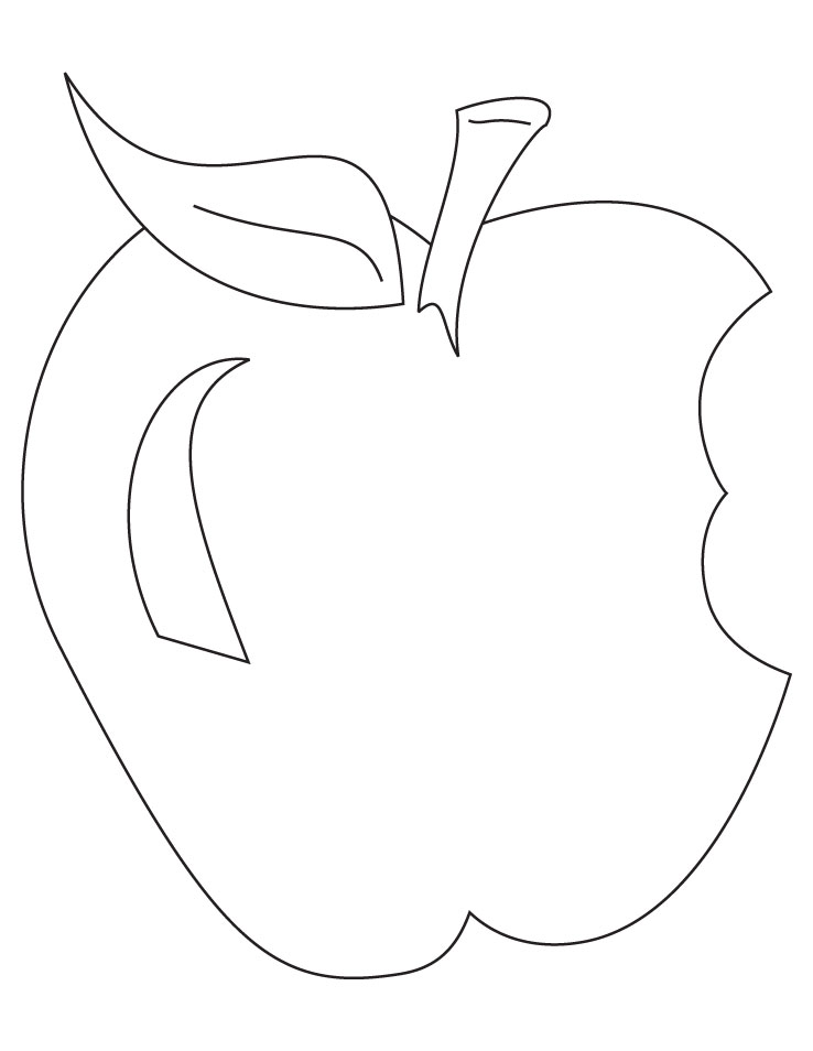 Free Coloring Pages Of Drawing Apple