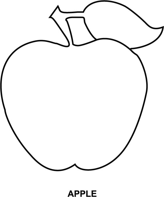Apple coloring page | Download Free Apple coloring page for kids ...
