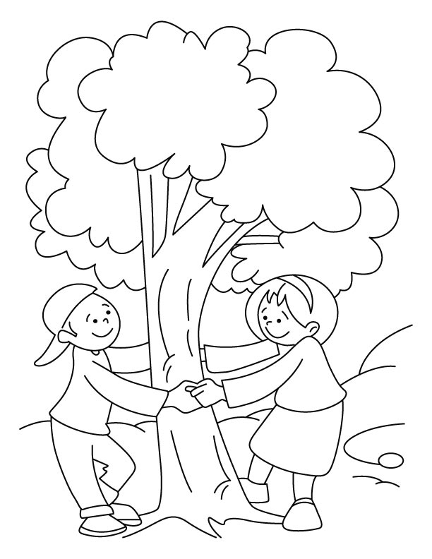 Save tree coloring pages