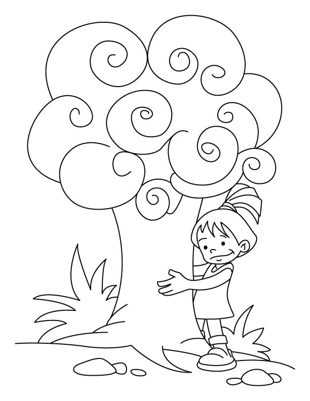 Trees are our friends coloring pages