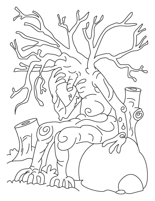 Save tree save earth coloring pages | Download Free Save tree save ...