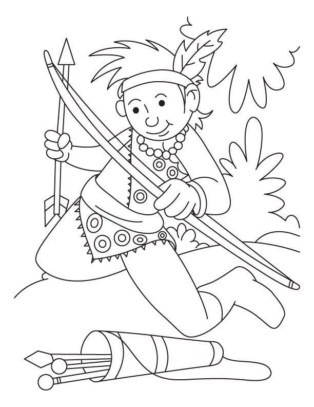 coloring pages archery pictures - photo#27