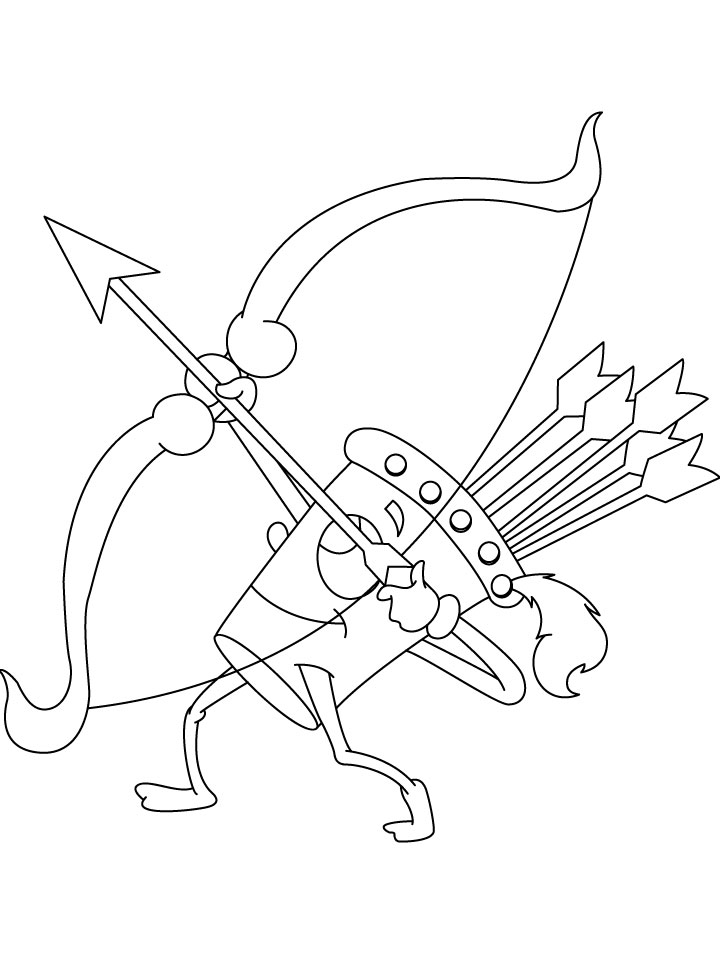Wow Quiver Shooting Coloring Page