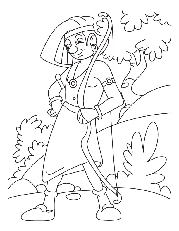 coloring pages archery pictures - photo#28