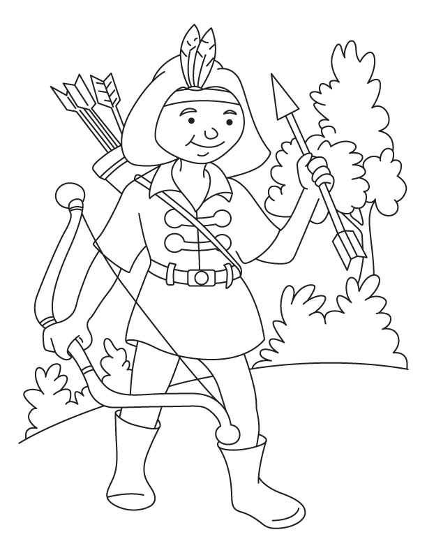 coloring pages archery pictures - photo#24