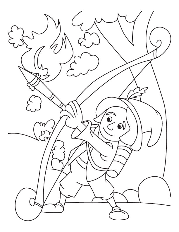 coloring pages archery pictures - photo#15