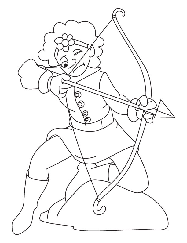 coloring pages archery pictures - photo#7