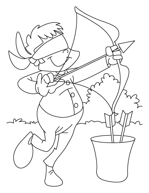 coloring pages archery pictures - photo#16