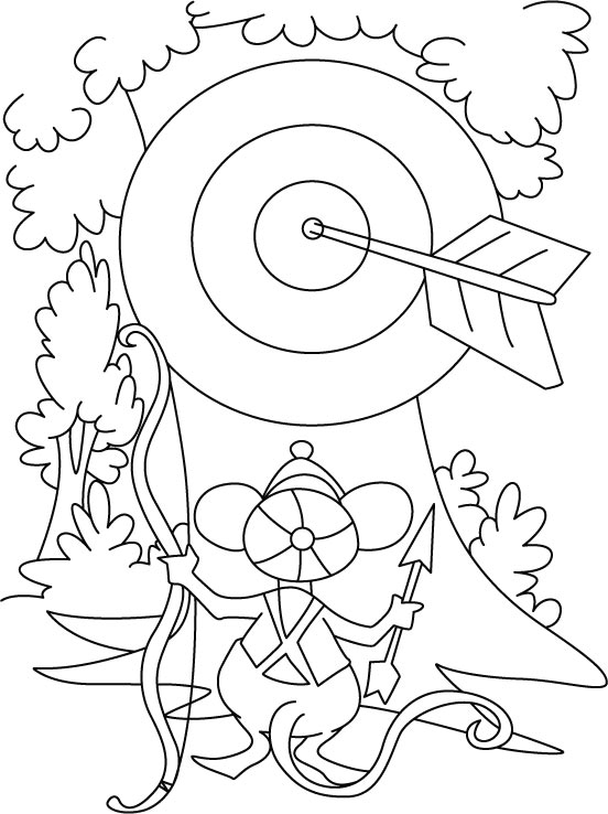 coloring pages archery pictures - photo#10