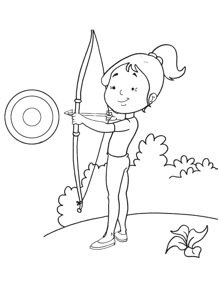 archery coloring pages free - photo#9