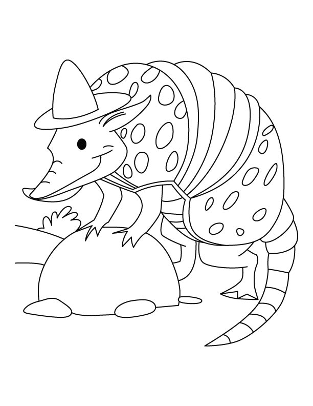 armadillo the spy coloring pages download free armadillo