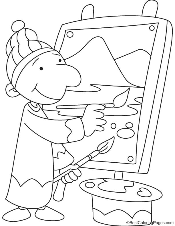 Artist coloring page
