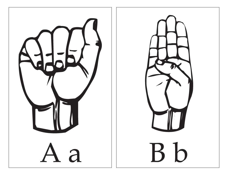 asl with capital and small letter aa bb page