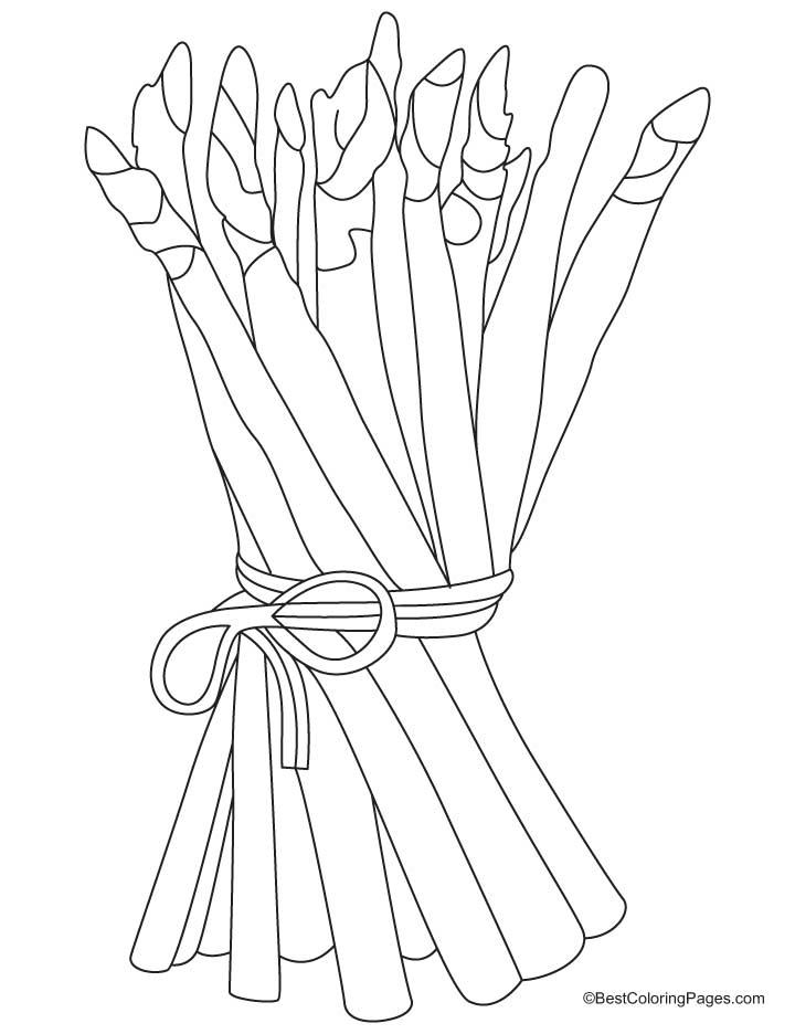 Bunch of asparagus coloring pages