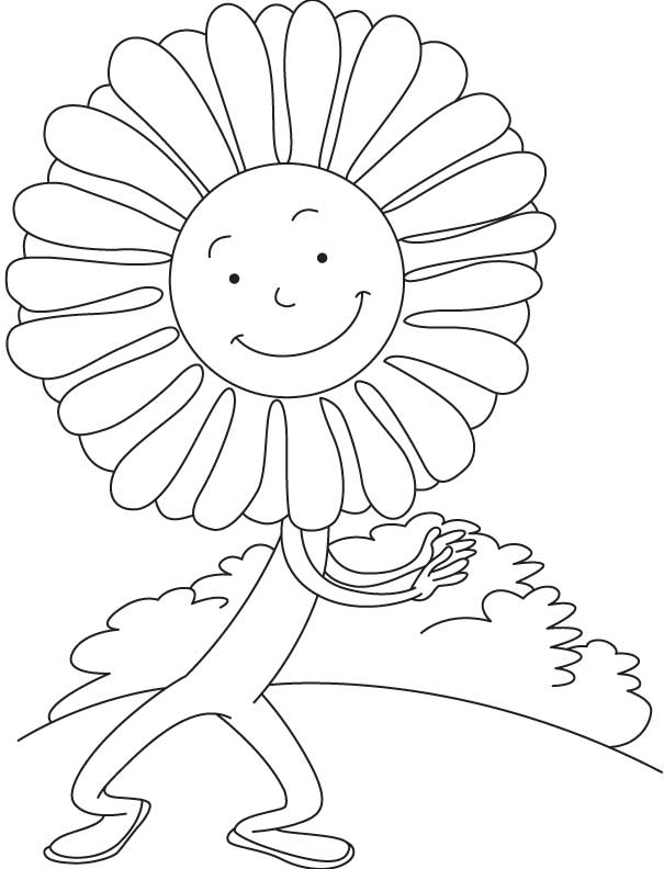 aster flower dancing coloring page download free aster