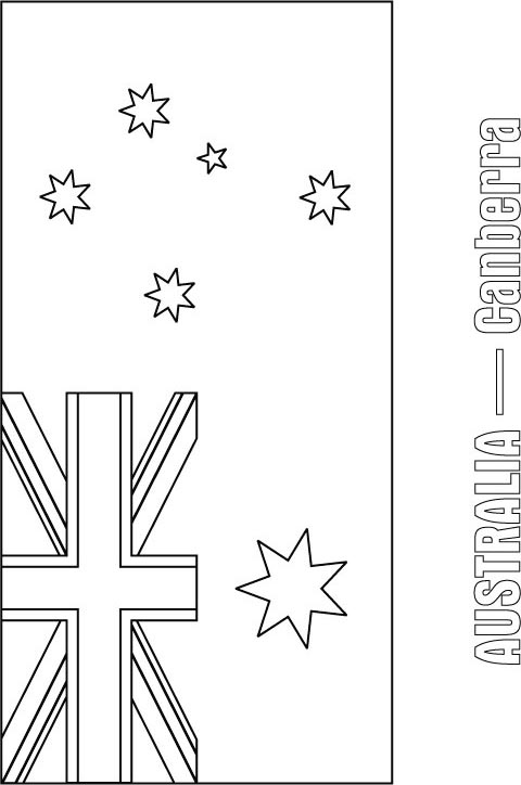 Australia flag coloring page  Download Free Australia flag