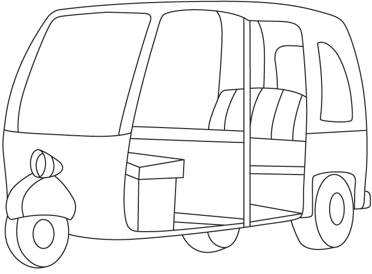 auto rickshaw coloring page - Ambulance Pictures To Colour
