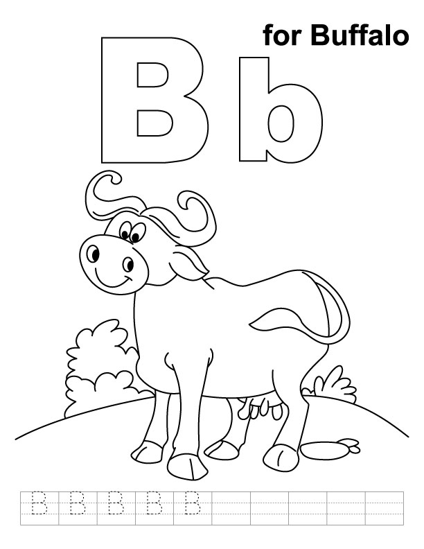 b coloring pages for kids - photo #15