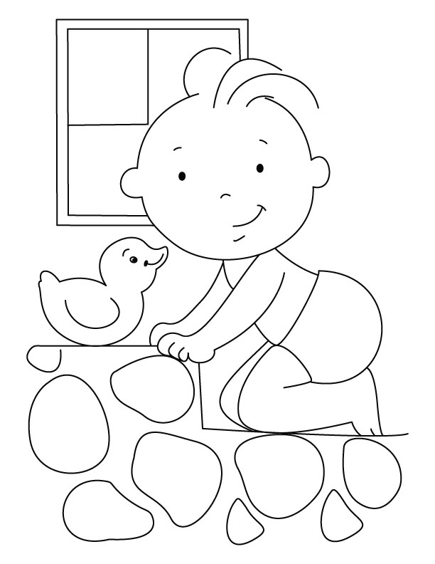 Baby coloring page Download Free Baby coloring page for kids