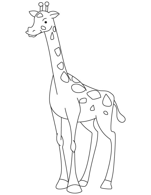 Baby giraffe coloring page | Download Free Baby giraffe ...