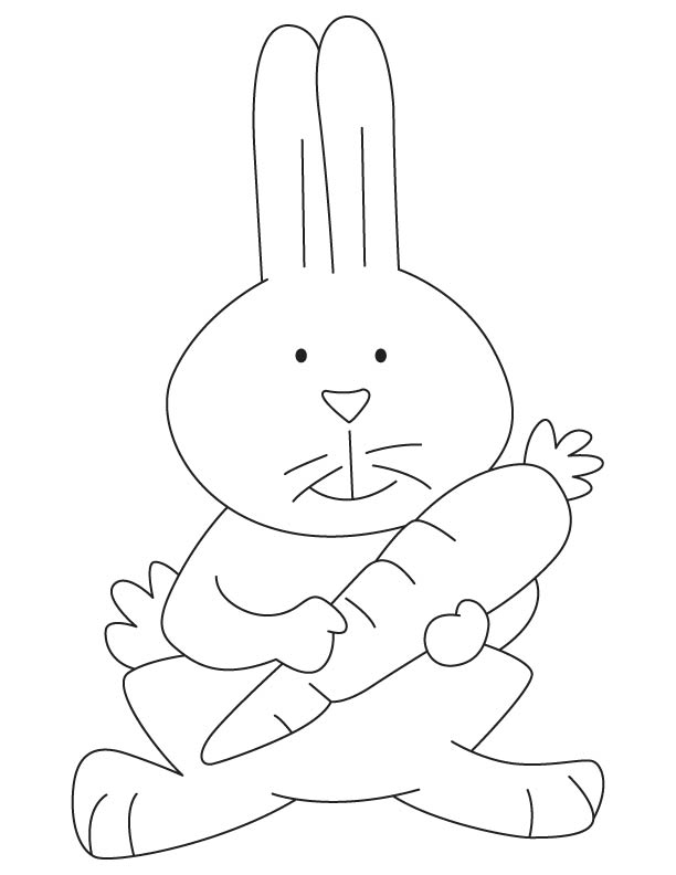 Baby rabbit coloring page