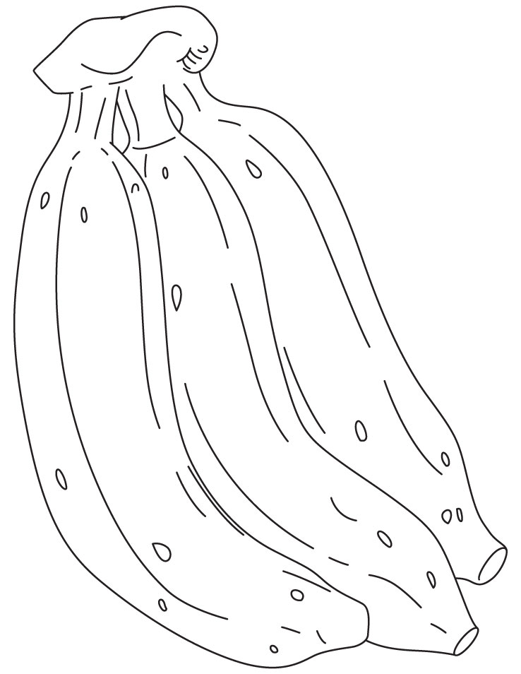Free bunch of bananas coloring pages