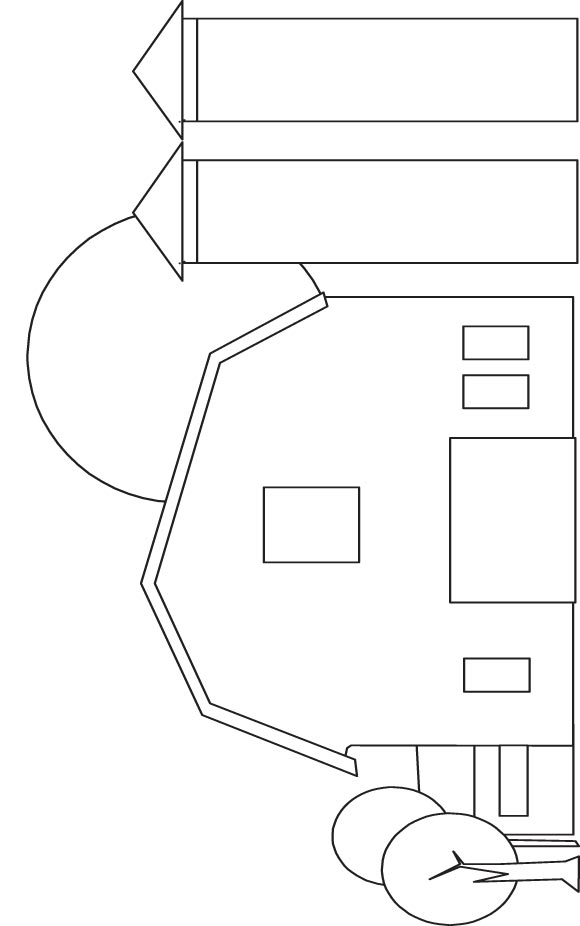 barn coloring page - Barn Coloring Page
