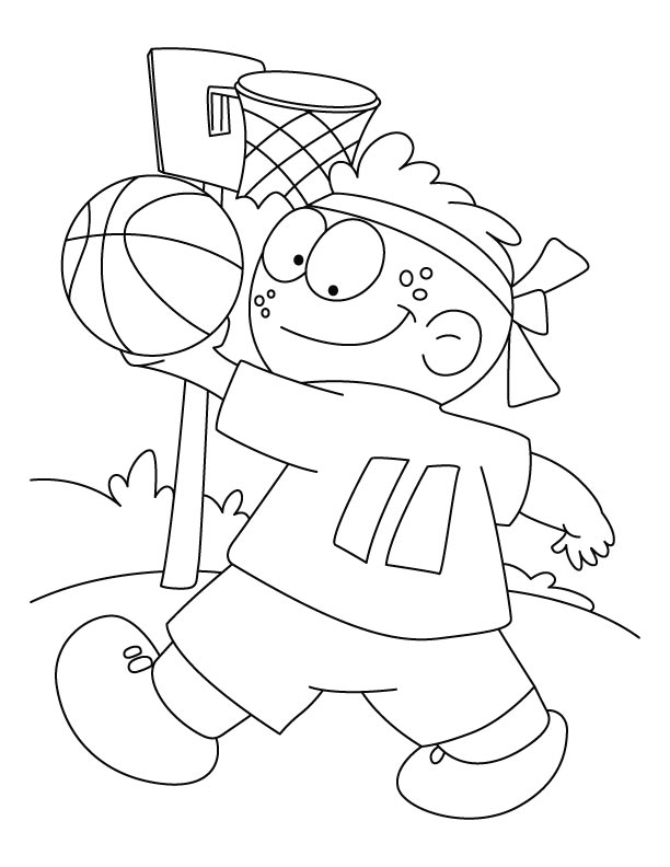 best basketball coloring pages - photo#9